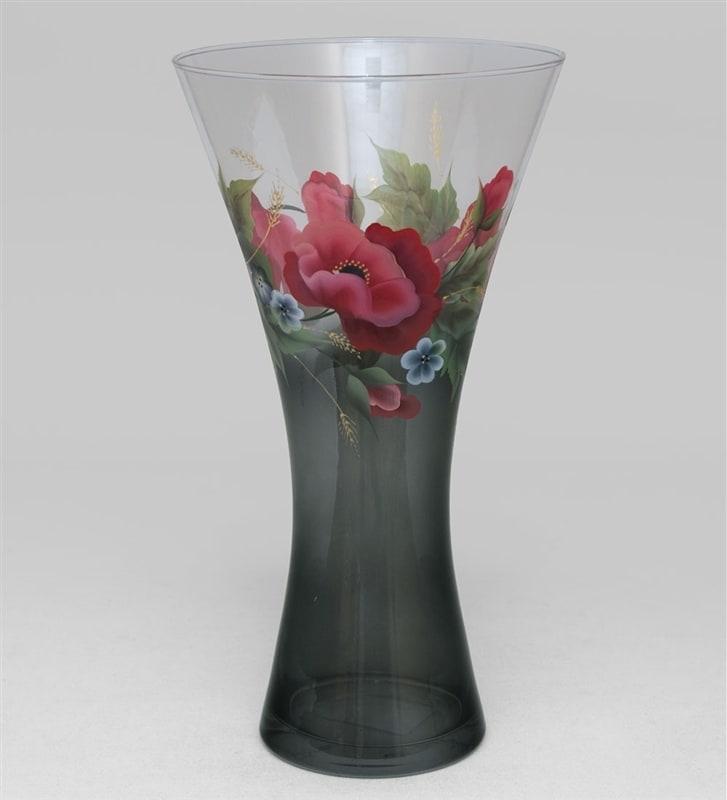 Печать на вазе для цветов