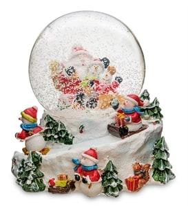 Новогодние шары со снегом