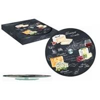 Блюдо стеклянное для сыра «Мир сыров» (вращающееся)