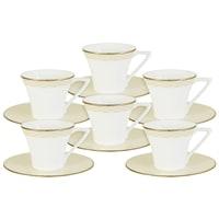 Кофейный набор из костяного фарфора на 6 персон «Бриз Голд»