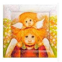 Жикле в раме «Ангел семейной любви» ANG-253