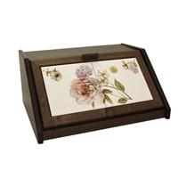 Деревянная хлебница с керамическими вставками «Сады Флоренции»