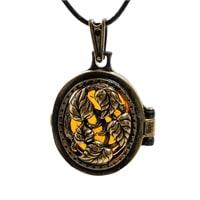 Подвеска «Медальон Вьюнок» AM-1805