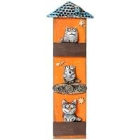 Панно «Кошачий дом» шамот KK-514