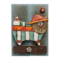 Панно «Кот в шляпе» шамот KK-523