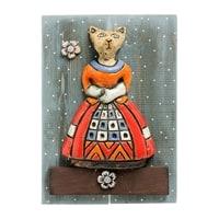 Панно «Кошечка» шамот KK-524