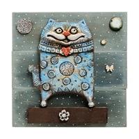 Панно «Кот» шамот KK-526