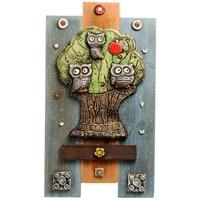 Панно «Совы на дереве» шамот KK-531