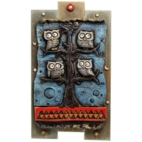 Панно «Совы на дереве» шамот KK-532