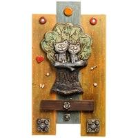 Панно «Коты на дереве» шамот KK-533