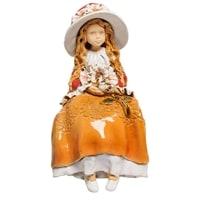 Фигура из керамики на полку «Девушка»  VR-09