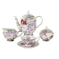 Чайный сервиз из костяного фарфора на 6 персон «Райский сад» в подарочной упаковке