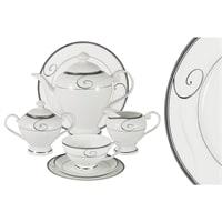 Чайный сервиз из костяного фарфора на 12 персон «Волна»