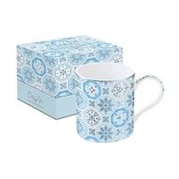 Кружка из фарфора «Изразцы» (голубая) в подарочной упаковке
