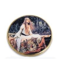 Зеркальце «Леди из Шалот» Джон Уильям Уотерхаус pr-M18WA (Museum. Parastone)