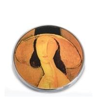 Зеркальце «Портрет Жанны Эбютерн в большой шляпе» Амедео Модильяни pr-M29MO (Museum. Parastone)