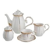 Чайный сервиз из фарфора на 6 персон «Цветочная симфония»