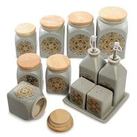 Набор керамических банок для специй TJ-01