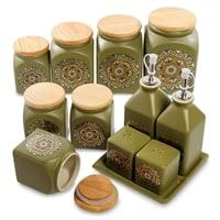 Набор керамических банок для специй TJ-02