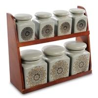 Набор керамических банок для сыпучих продуктов TJ-05