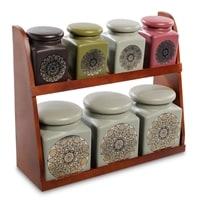 Набор керамических банок для сыпучих продуктов TJ-06