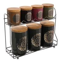 Набор керамических банок для сыпучих продуктов TJ-07