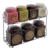 Набор керамических банок для сыпучих продуктов TJ-08