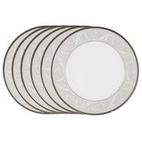 Набор из 6 обеденных тарелок из костяного фарфора «Ноктюрн»