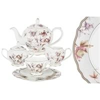 Чайный сервиз из костяного фарфора на 6 персон «Фантазия»