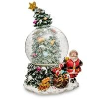 Музыкальный шар со снегом и подсветкой «Новогоднее Чудо» PM-49