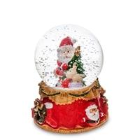 Музыкальный шар со снегом и подсветкой «Подарок под Ёлкой» PM-68