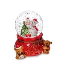 Музыкальный шар со снегом и подсветкой «Счастливого Рождества!» PM-69