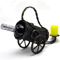 Подставка для бутылки «Пушка» с подсвечником