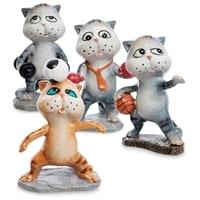 Комплект из 4 фигурок «Коты-спортсмены» MN-02