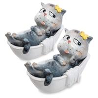 Комплект из 2 фигурок «Кот в ванной» MN-04