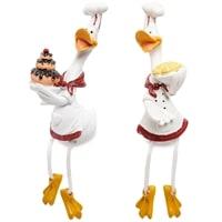 Комплект из 2 фигурок «Гуси-поварята с десертом» MN-128