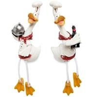 Комплект из 2 фигурок «Гуси-поварята с блюдом» MN-129