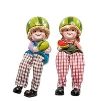 Комплект из 2 фигурок «Домовята с арбузом» MN-142