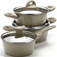 Набор посуды со стекянными крышками MB-25077N