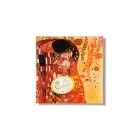 Тарелка квадратная «Поцелуй» (Г. Климт)