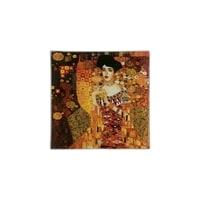 Тарелка квадратная «Золотая Адель» (Г. Климт)