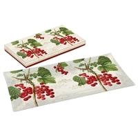 Тарелка прямоугольная «Красная смородина» в подарочной упаковке