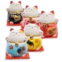 Комплект из 5-ти фигурок «Коты-талисманы Манэки-нэко» KT-04/1