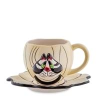 Чайная пара из фарфора «Кот Кланси» BS-20