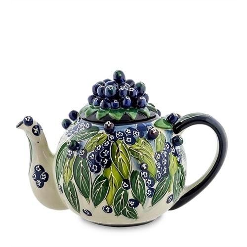 Заварочный чайник из фарфора «Голубика» BS-39