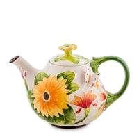 Заварочный чайник из фарфора «Герберы» BS-37
