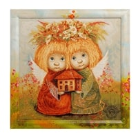 Гобелен в расписной раме «Ангелы хранители дома» ANG-270