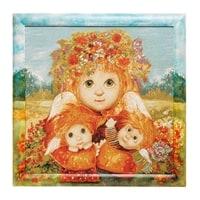 Гобелен в расписной раме «Материнская любовь» ANG-342