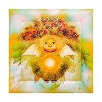 Жикле в расписной раме «Солнечный ангел» ANG-559