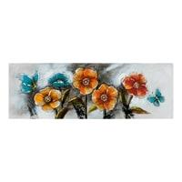 Фактурная картина «Маки и бабочки» ART-807